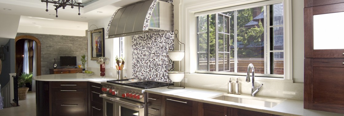 Phantom retractable window screens are perfect for kitchen and dining room applications.