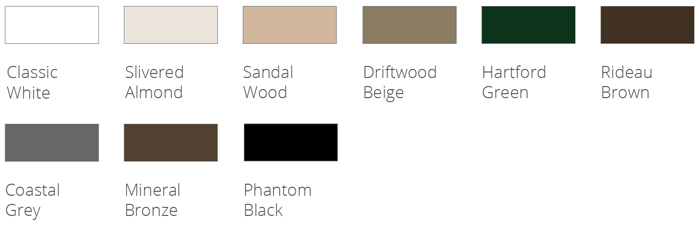 Phantom's motorized screens are available in nine standard colors that are ready to order.
