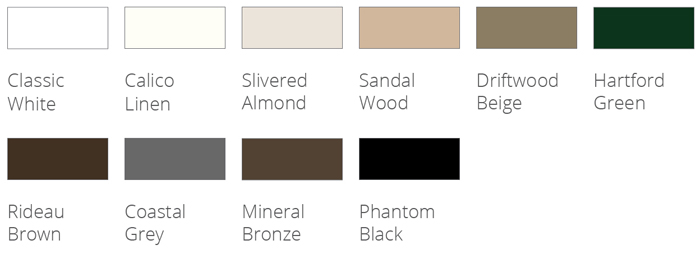 Phantom's retractable door screens come in 10 standard colors that are ready to order.