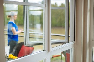 Retractable window screens let you take in your view.