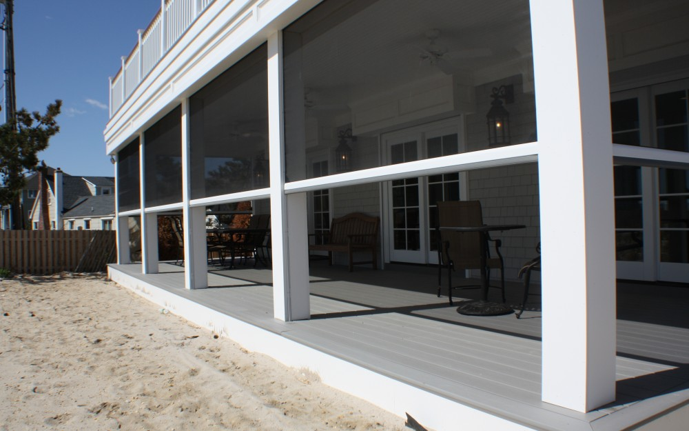 Outdoor living on the new jersey shore phantom screens Motorized porch screens